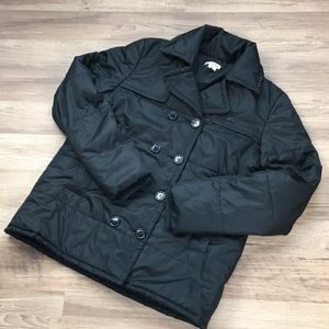 Lacoste double-breasted puffer, black, US size 10